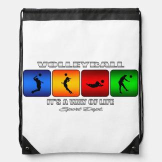 Cooler Volleyball ist es eine Lebensart Sportbeutel