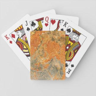 Cooles altes verrostetes Eisen-Metall Spielkarten
