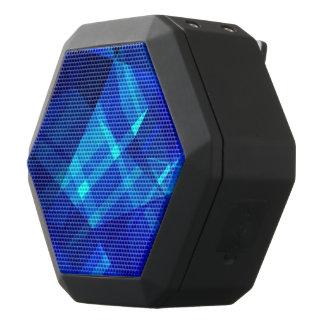 Cooles blaues Eis-geometrisches Muster Schwarze Bluetooth Lautsprecher