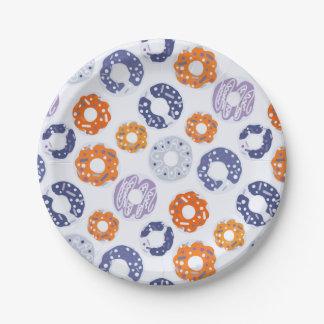 Cooles blaues orange Muster der Pappteller