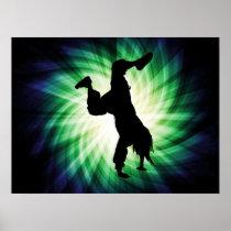 Cooles Breakdancer Poster