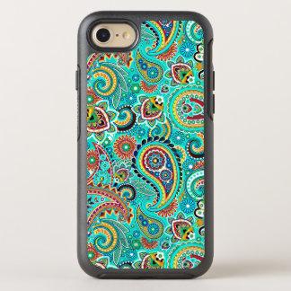 Cooles buntes nahtloses Muster Paisleys OtterBox Symmetry iPhone 8/7 Hülle