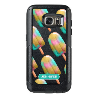 Cooles buntes Popsicle-Muster mit Monogramm OtterBox Samsung Galaxy S7 Hülle