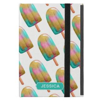 Cooles buntes Popsicle-Muster mit Namen iPad Mini Schutzhüllen