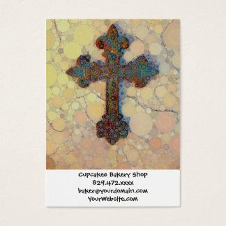 Cooles christliches Querkreis-Mosaik-Muster Visitenkarte