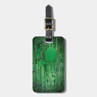 Cooles elegantes grünes Leiterplatte-Schwarzes Kofferanhänger