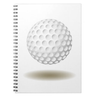 Cooles Golf-Emblem-Notizbuch Spiral Notizblock