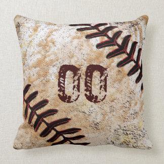 Cooles Jerseyzahl-oder -monogramm-Baseball-Kissen Kissen