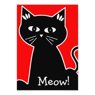 Cooles Katzen-Geburtstags-Party - schwarze Karte