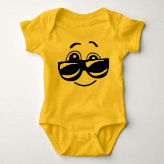 Cooles Kinderemoticon-Baby-Kostüm Baby Strampler