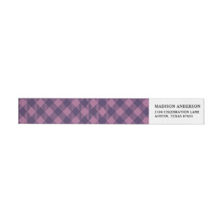 Cooles lila Karo-Gingham-Muster
