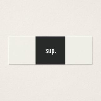 Cooles lustiges hallo, das Sozialvernetzung grüßt Mini-Visitenkarten