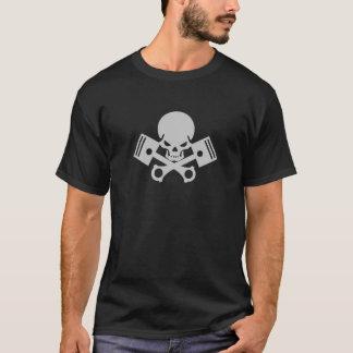 Cooles Motorrad des Schädel- und Kolbenautos T-Shirt