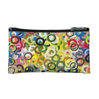 Cooles Muster-abstrakte Farbe schellt Plakat Makeup-Tasche