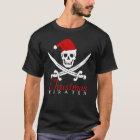 Cooles Piraten-Weihnachtsschädel-Shirt für starke T-Shirt