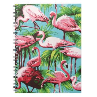 Cooles Retro rosa Flamingo-Notizbuch Spiral Notizblock