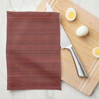 Cooles Rot Stripes Küchen-Tuch Handtuch