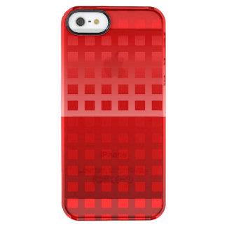 Cooles rote Quadrat-Muster Durchsichtige iPhone SE/5/5s Hülle