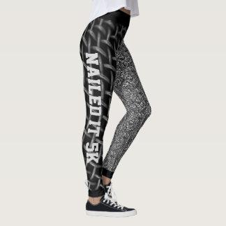 Cooles schwarzes u. weißes abstraktes es genagelt leggings