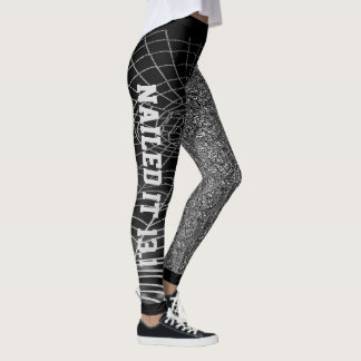 Cooles schwarzes u. weißes abstraktes genagelt ihm leggings