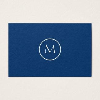 Cooles schwarzes unbedeutendes mit Monogramm Visitenkarte