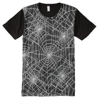 Cooles Spinnen-Netz-Muster T-Shirt Mit Komplett Bedruckbarer Vorderseite