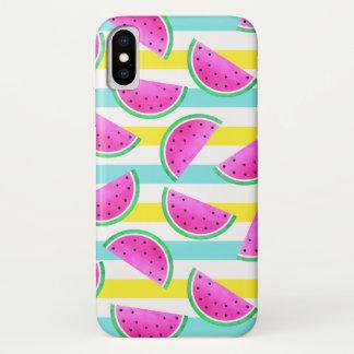 Cooles Summery Muster der rosa Wassermelonen iPhone X Hülle