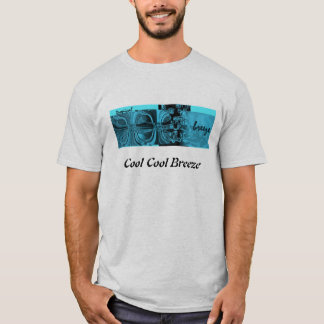 Cooles tropisches Blau T-Shirt