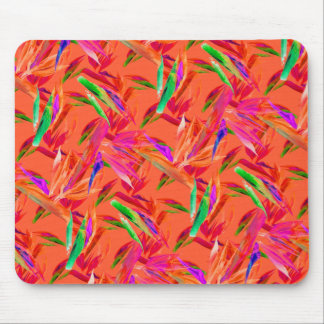 Cooles und elegantes abstraktes rosa orange mauspads