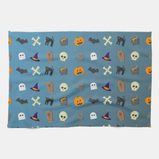 Cooles und lustiges Halloween-Muster Geschirrtuch