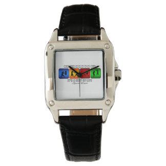 Cooles Verpacken ist es eine Lebensart Armbanduhr