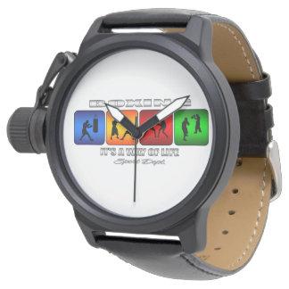 Cooles Verpacken ist es eine Lebensart Uhr