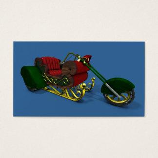 Cooles Weihnachtsmann-Weihnachten Trike Visitenkarte