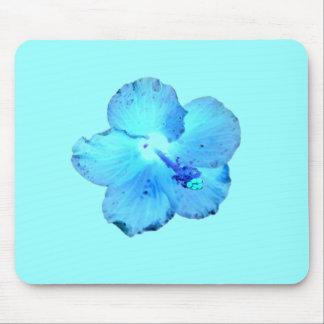 Cooles wildes blaues Hibiskus ~ Mousepad