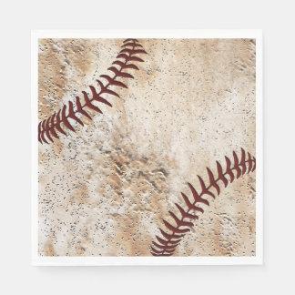 Coolste alte schauende Vintage Baseball-Servietten Papierservietten