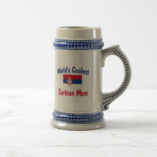 Coolste der Serbian-Mamma der Welt Bierglas