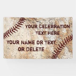 Coolste rustikale personalisierte Baseball-Fahne Banner