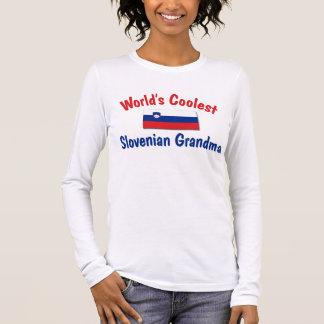 Coolste slowenisch Großmutter Langarm T-Shirt