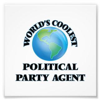 Coolster politischer das Party-Agent der Welt Kunstfoto