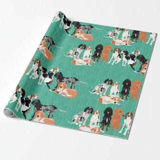Coonhound-Reihen-Packpapier Geschenkpapier