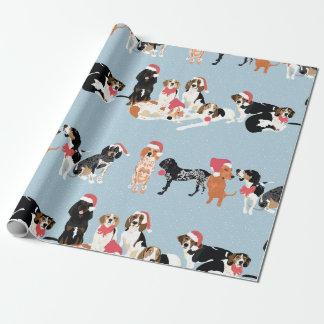 Coonhound-WeihnachtsPackpapier Geschenkpapier