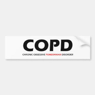 COPD - Chronische besessene Spitz-Störung Autoaufkleber