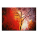 Copie abstraite d'art de peinture de toile d'arbre posters