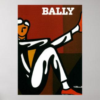 Copie Bally d'affiche de Villemot de chaussures Poster