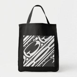 Copie blanche noire de frontière d'ovales sacs