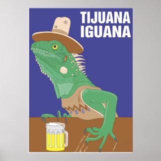 Copie d'affiche d'iguane de Tijuana Poster