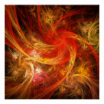 Copie d'art abstrait de nova de tempête de feu posters