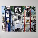 copie d'art de route de l'itinéraire 66 posters