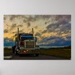 Copie de beaux-arts de ciel de relais routier posters
