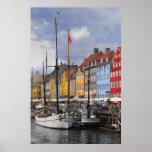 Copie de beaux-arts de couleur de Copenhague Affiche
